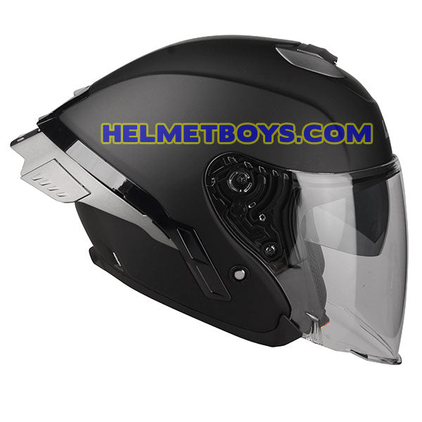 LAZER TANGO Motorcycle Helmet sunvisor matt black side view