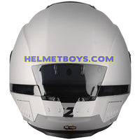 LAZER TANGO Motorcycle Helmet sunvisor matt grey back view