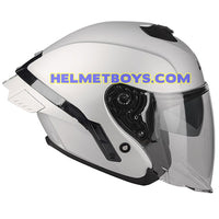 LAZER TANGO Motorcycle Helmet sunvisor matt grey side view