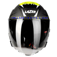 LAZER TANGO sunvisor motorcycle helmet graphics design ONI GREY front view