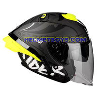 LAZER TANGO sunvisor motorcycle helmet graphics design ONI RED side view