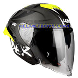 LAZER TANGO sunvisor motorcycle helmet graphics design ONI grey slant view