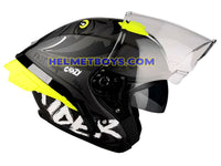LAZER TANGO sunvisor motorcycle helmet graphics design ONI GREY visor view