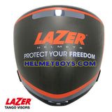 LAZER TANGO motorcycle helmet smoked tinted visor face shield front view