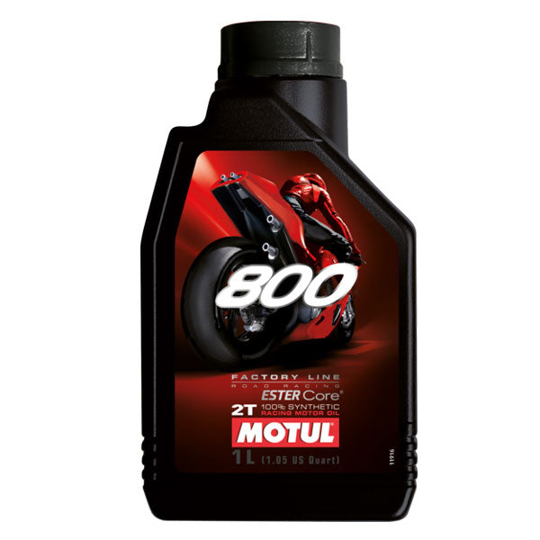 MOTUL 100% synthetic 2-Stroke motorcycle racing lubricant 800