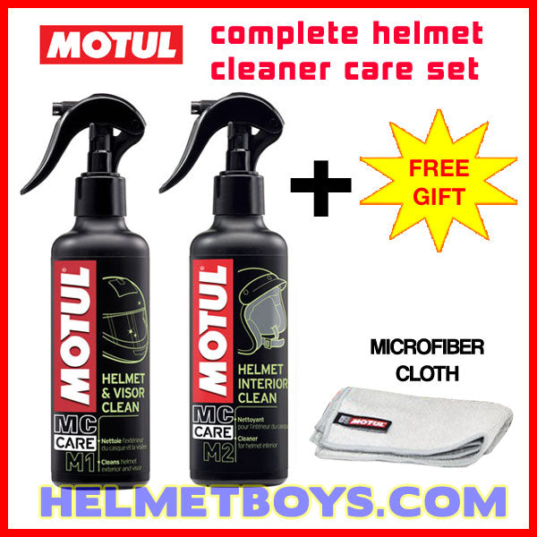 MOTUL M1 motorcycle helmet visor cleaner M2 helmet interior cleaner set