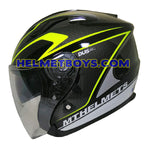 MT Helmet D3 GLOSSY YELLOW side view