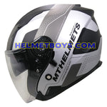 MT Helmet REZLAND Motorcycle sunvisor Helmet side view