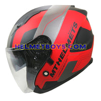 MT motorcycle helmet SV AVENUE version A5 REZLAND MATT RED side view