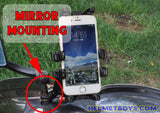 MWUPP motorcycle fingergrip smartphone holder mirror mounting