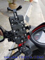 MWUPP motorcycle fingergrip smartphone holder scooter install