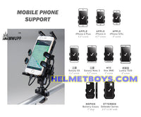 MWUPP motorcycle fingergrip smartphone support samsung apple iphone huawei xiaomi