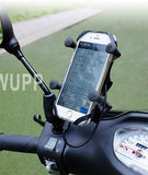 MWUPP motorcycle smartphone holder side mirror mounting