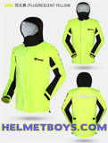 NANSHI motorcycle waterproof rainjacket yellow with hood