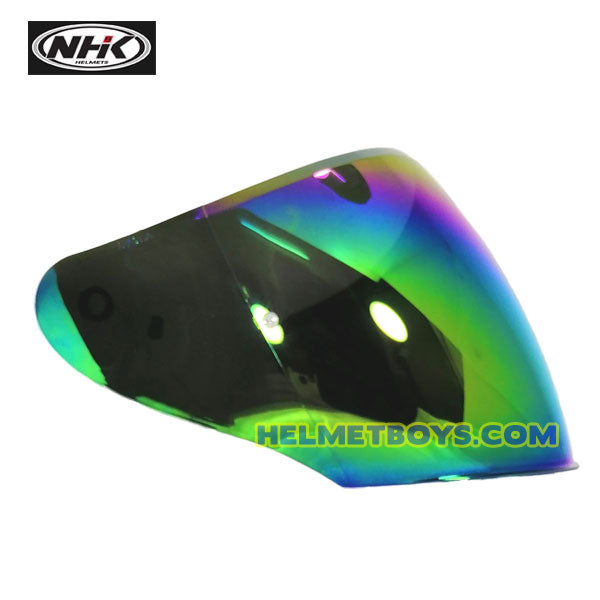 NHK R1 GIGA helmet Tinted Visor Face Shield rainbow iridium