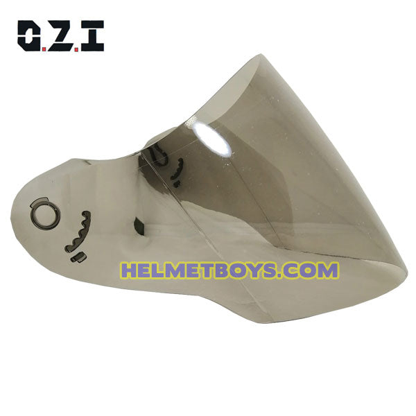 OZI 22 motorcycle helmet smoked tinted visor face shield side view