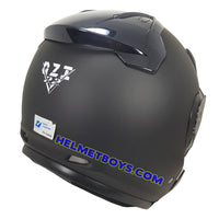 OZI 22 open face motorcycle helmet back view