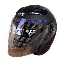 OZI 22 open face motorcycle helmet front slant view