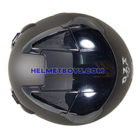 OZI 22 open face motorcycle helmet top view