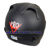 PRO 66 open face motorcycle matt black helmet back view