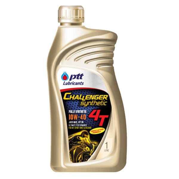 PTT Challenger Synthetic 4T motorcycle engine oil 10W40 15W50