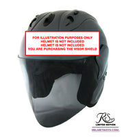 EVO RS959 motorcycle helmet smoked Tinted Visor actual