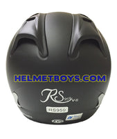EVO RS 959 motorcycle helmet matt black back view