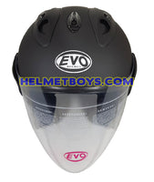 EVO RS 959 motorcycle helmet matt black front view