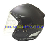 EVO RS 959 motorcycle helmet matt black side view
