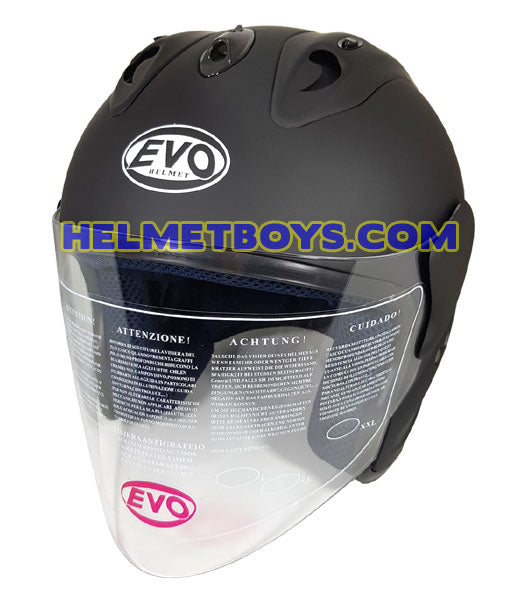 EVO RS 959 motorcycle helmet matt black slant view