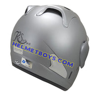 EVO RS 959 MATT GREY motorcycle helmet back view