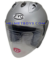 EVO RS 959 MATT GREY motorcycle helmet slant view