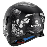 SHARK SKWAL Full Face Helmet LED lights NUK EM back view
