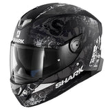 SHARK SKWAL Full Face Helmet LED lights NUK EM front view
