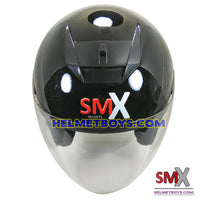 SMX open face motorcycle helmet front view