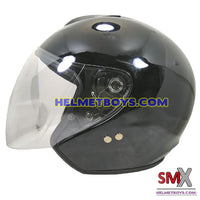 SMX open face motorcycle helmet side view