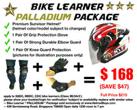 SSDC BBDC CDC motorcycle learner student PALLADIUM package