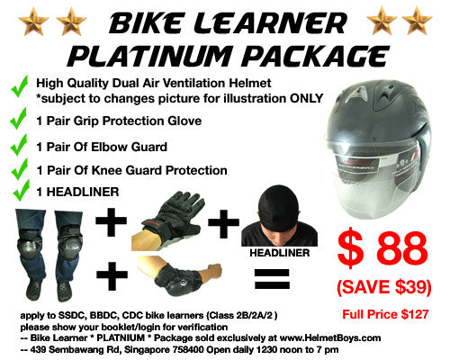 SSDC BBDC CDC motorcycle learner student PLATINUM package
