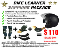 SSDC BBDC CDC motorcycle learner student SAPPHIRE package