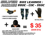 SSDC BBDC CDC motorcycle learner student silver package