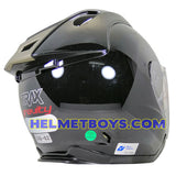 TRAX GRAVITY open face motorcycle helmet backflip view