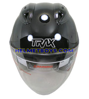 TRAX GRAVITY open face motorcycle helmet front view