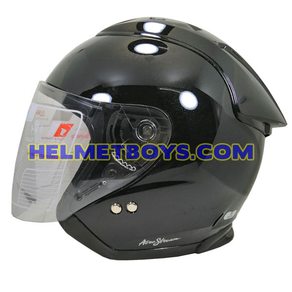 TRAX GRAVITY open face motorcycle helmet side view