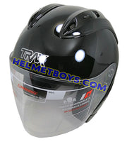 TRAX GRAVITY open face motorcycle helmet slant view