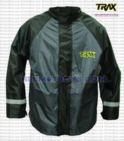 TRAX PVC motorcycle raincoat grey front view