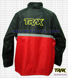 TRAX PVC motorcycle raincoat red back view
