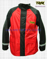 TRAX PVC motorcycle raincoat red front view