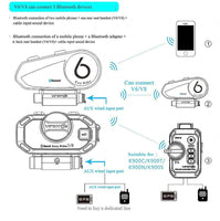 ViMOTO V8 Motorcycle Bluetooth Headset connect devices
