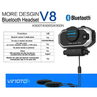 ViMOTO V8 Motorcycle Bluetooth Headset functions