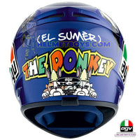 AGV K3 ROSSI 46 Donkey Full Face Helmet back view